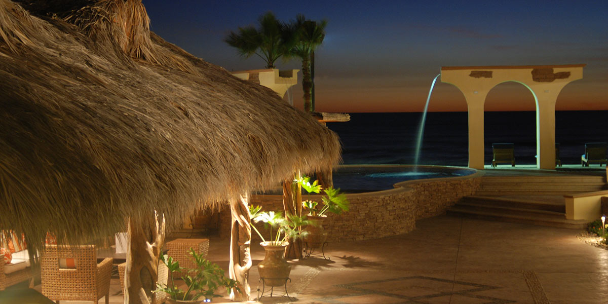 las ventanas pool palapa sunset